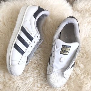 Adidas Superstar White Black Classic Size 8